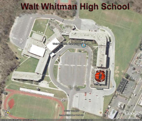 Walt Whitman High School overhead photo