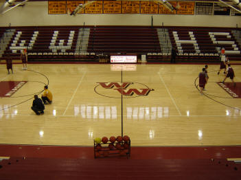 North gym interior view