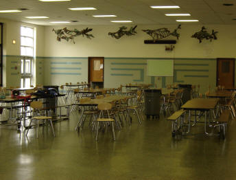 South cafeteria interior view